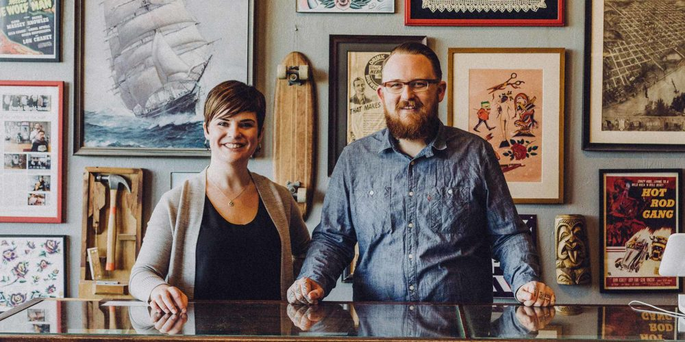 Surly Chap owners in their barber shop