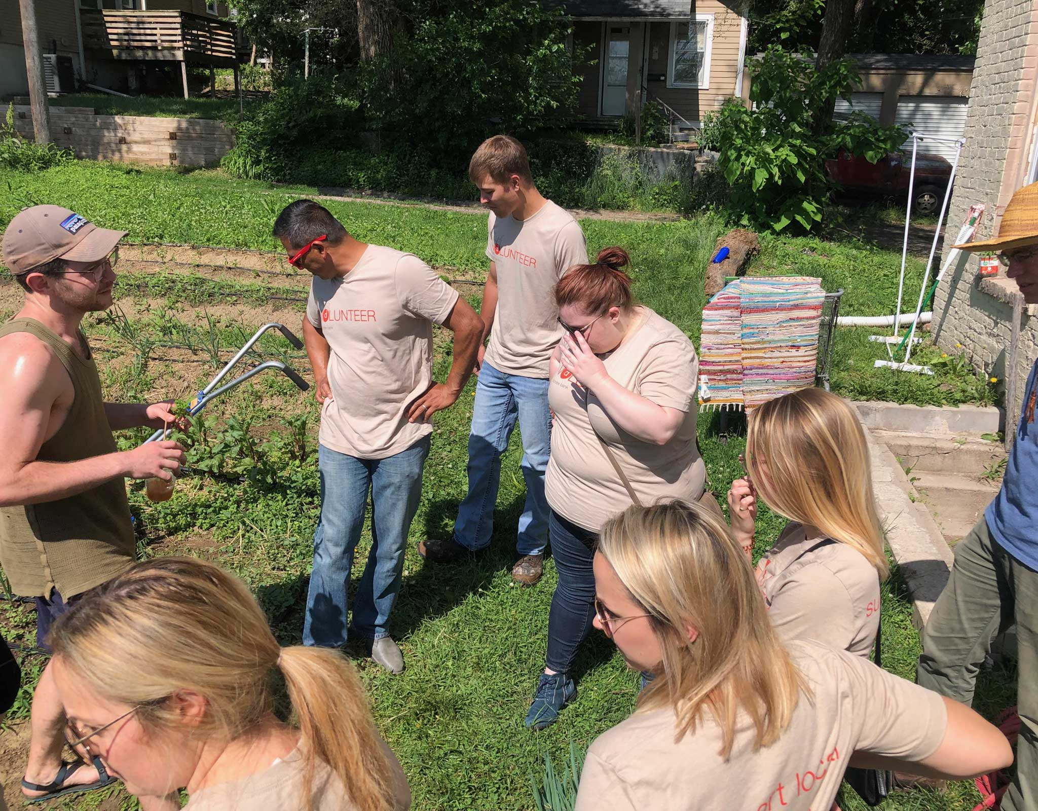 Employees at Big Muddy Urban Farm