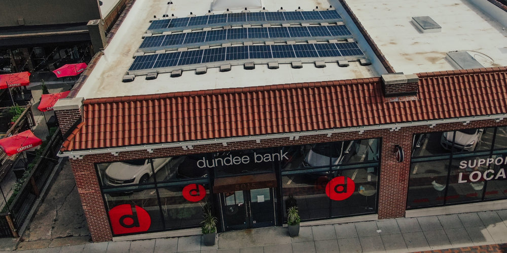 Solar Panels on top of the Dundee Bank